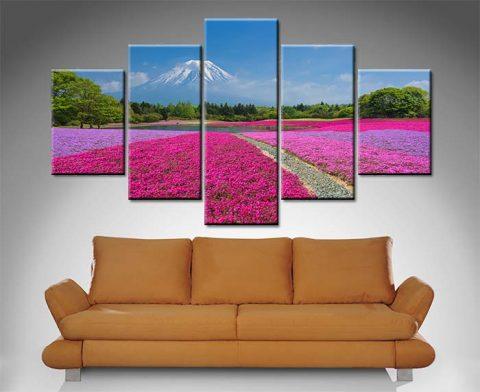 Shibazakura Flowers Diamond Canvas Print Set