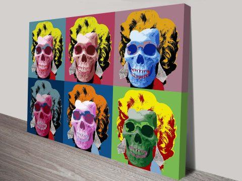 Buy Marilyn Monroe Skulls Andy Warhol Pop Art Canvas Prints