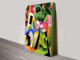 Franz Marc House With Trees Abstract Wall Art Print