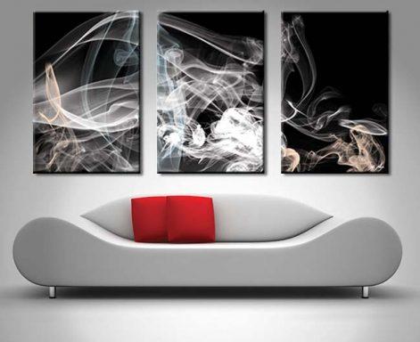 Smoke Composition 3 Panel Canvas Print