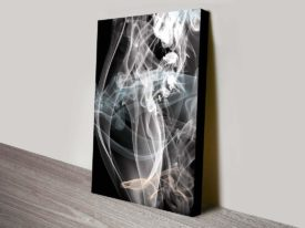 Smoke Composition Abstract Wall Art