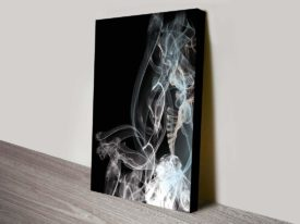 Smoke Composition contemporary wall canvas print