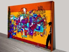 Smooth Criminal Graffiti Canvas Print Wall Art