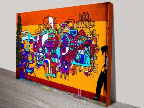 Smooth Criminal Graffiti Canvas Print Wall Art