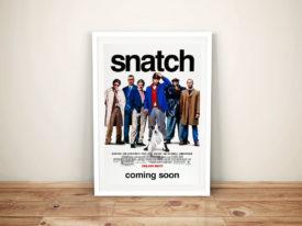 Snatch Framed Movie Poster Canvas Wall Art Print