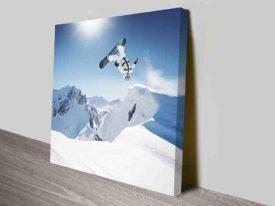 Snowboarder Half Backflip Modern Art Online