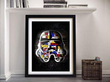 Piet Mondrian Stormtrooper Framed Wall Art