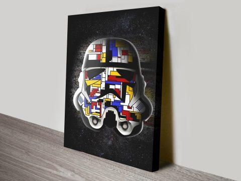 Piet Mondrian Stormtrooper Canvas Print