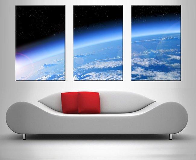 Space Sector Split Panel Art Unique Gift Ideas