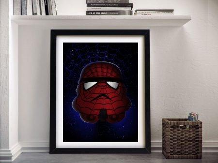 Spiderman Star Wars Framed Wall Art