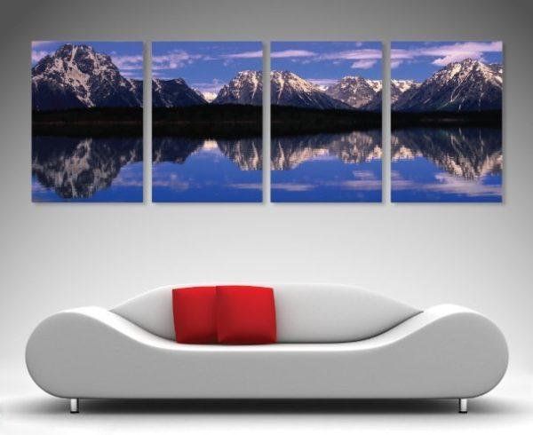 Split canvas Alpine lakes