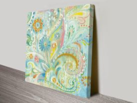 Spring Dream Paisley XIII Art Print on Canvas