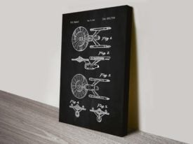 Star Trek Enterprise Blueprint Graphic Art Poster Wall Art