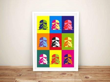 Buy Star Wars Warhol Style Framed Pop Art