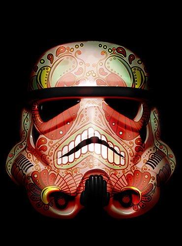 Star Wars Storm Trooper Helmets Pop Artwork