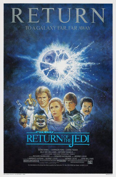 Star Wars Episode VI Return of the Jedi canvas print
