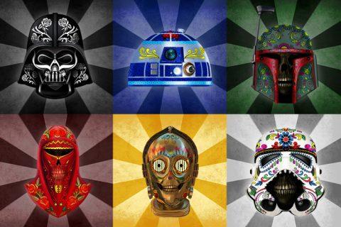 Star Wars dia de los muertos Canvas Print