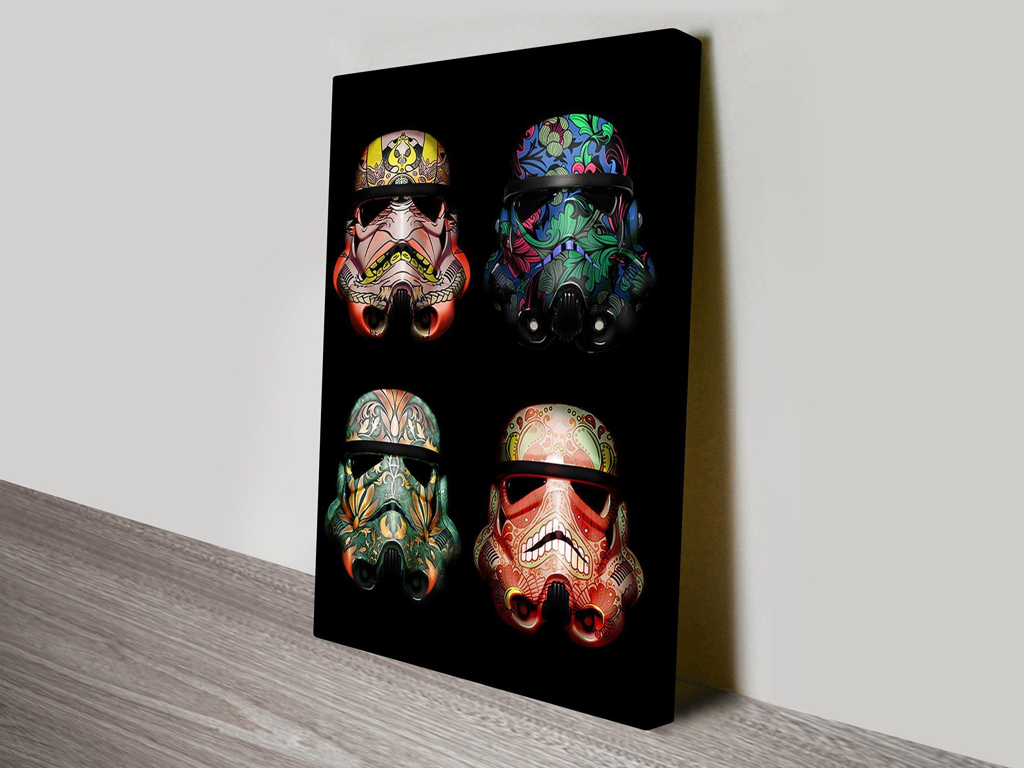Stormtrooper Helmet Pop Art Star Wars Canvas