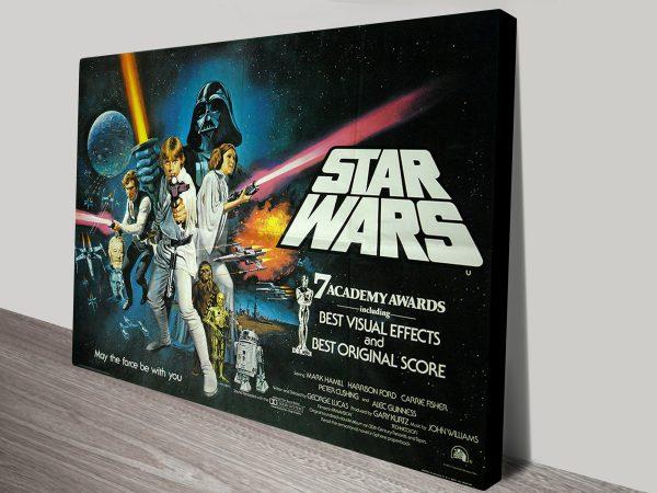 Star Wars Movie Poster On Canvas Horizontal