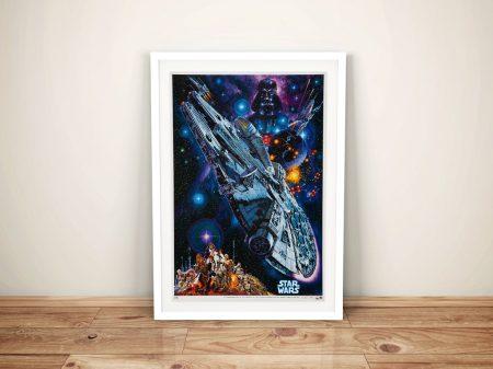 Star Wars Movie Poster Framed Wall Art Australia