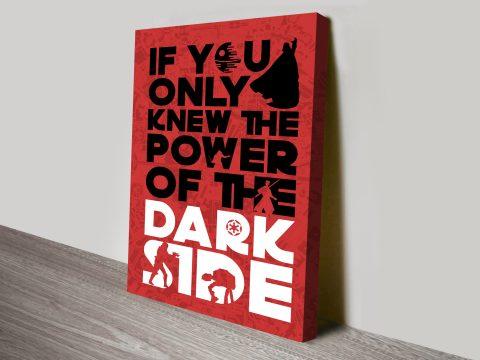 Star Wars Typographic canvas print