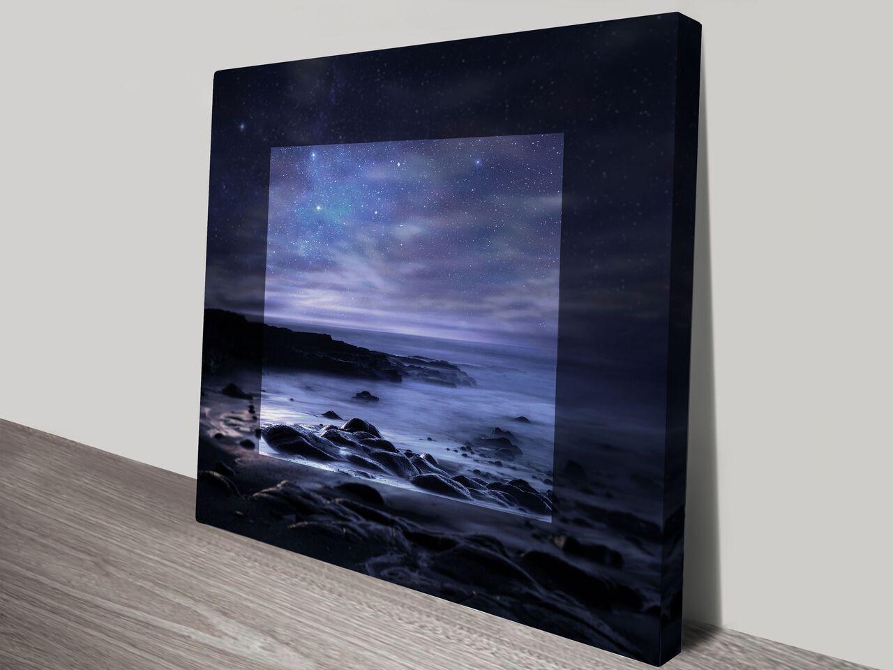 Starry Sky in Focus Seascape Canvas Art