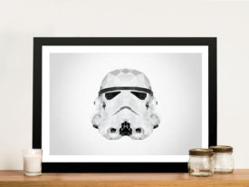Stormtrooper Helmet Geometric Wall Art