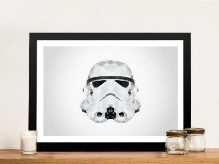 Stormtrooper Helmet Geometric Wall Art
