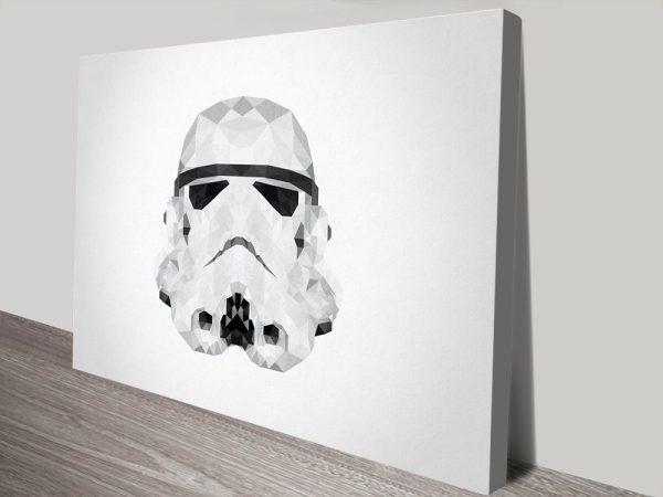 Stormtrooper Helmet Geometric Artwork & Framed Poster Prints