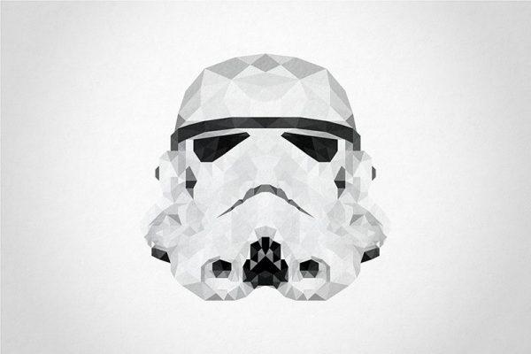Storm Trooper Head Geometric Art Picture Sydney