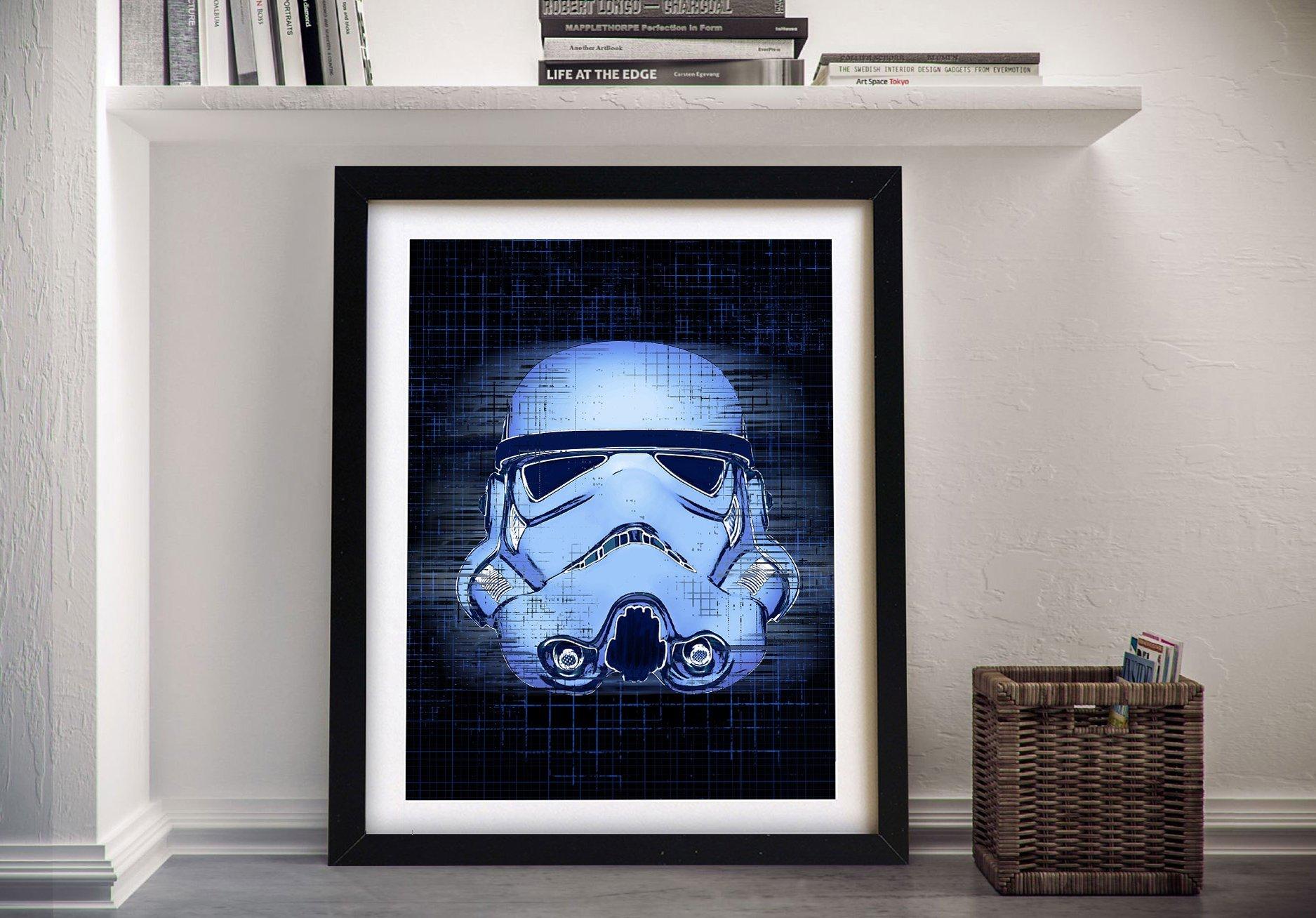 Stormtrooper Blueprint Framed Star Wars Art