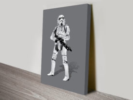 Stormtrooper Typographic Star Wars Art Canvas Print
