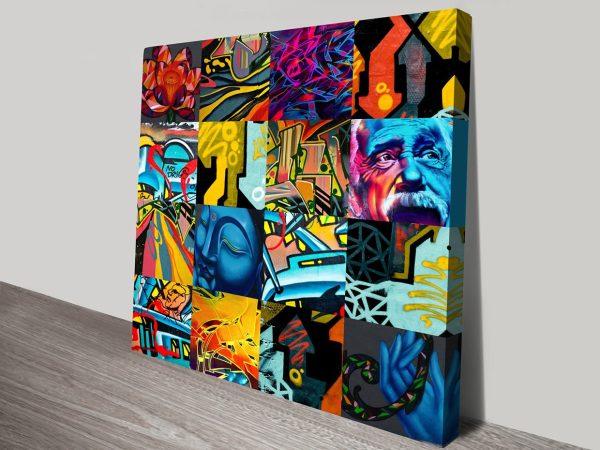 Graffiti Collage Canvas art Pictures Australia