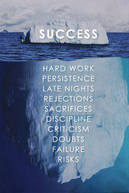 Success Quote Iceberg Artwork Print