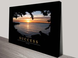 Success III Motivational Canvas Print