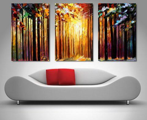 Buy Sun of January Triptych Wall Art