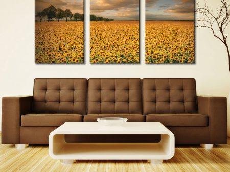 Sunflowers 3 Piece Wall Art Prints