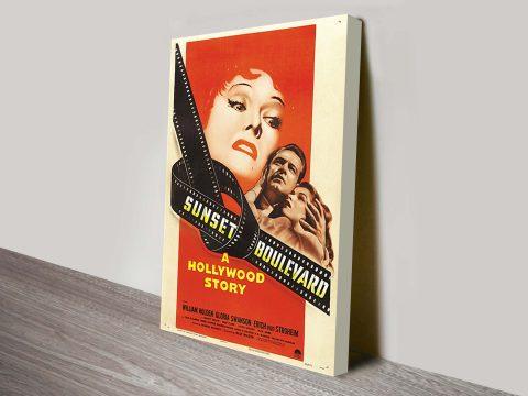 Sunset Boulevard Movie Poster Canvas Print