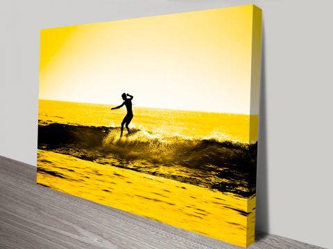 Sunset Surf wall art