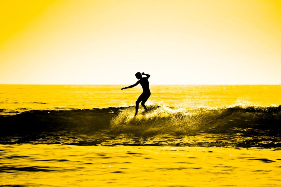 Sunset Surf Wall Art Australia