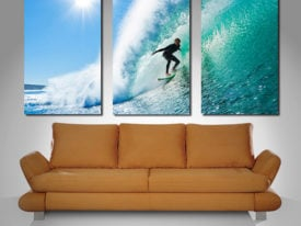 Surf Haze triptych wall art