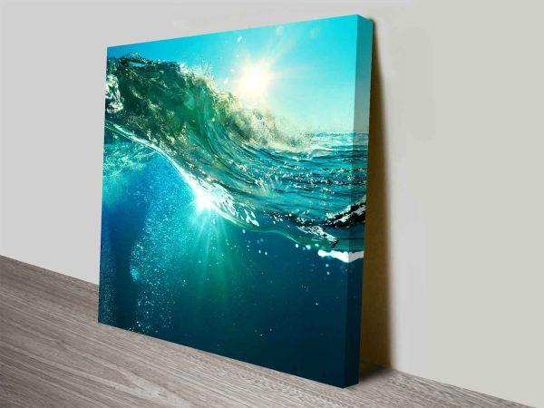 Buy Fluid Wave Ready to Hang Decorative Art AU