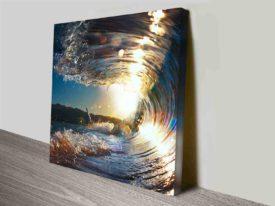Breaking Waves Series No. 2 Seascape Square Canvas Art Print Australia