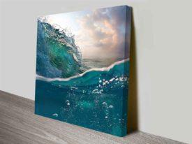 Breaking Waves Series No. 6 Underwater Rolling Wave Canvas Wall Art