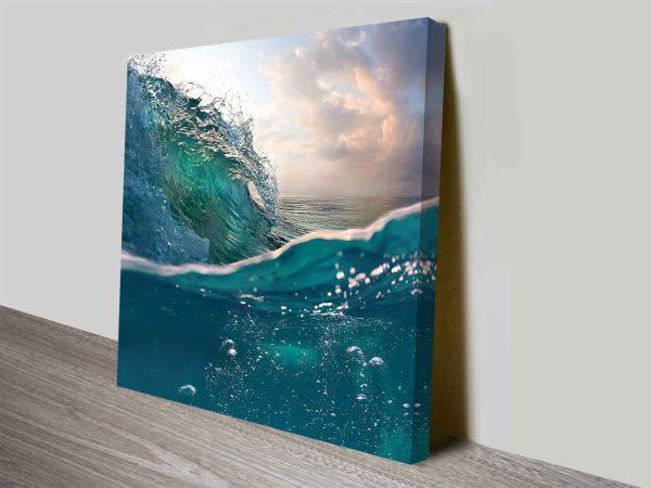 Buy Breaking Waves Ready to Hang Wall Art