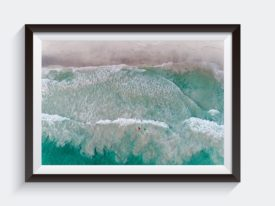 Surfing Waves Frame Photo Wall Art