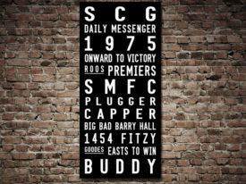 Sydney Swans AFL Tram Banner Word Art