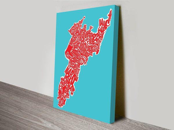 Sydneys Eastern Suburbs Map Art