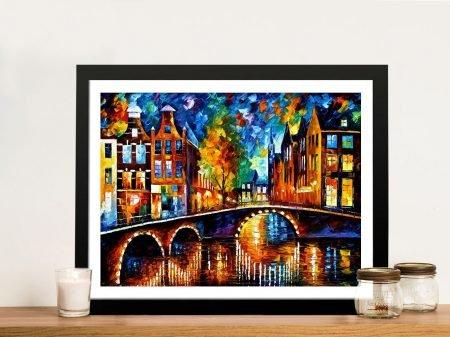 The Bridges of Amsterdam Leonid Afremov Wall Art Picture Australia