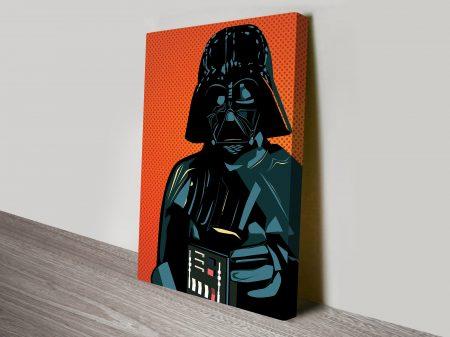 Lichtenstein Style Darth Vader Star Wars Art